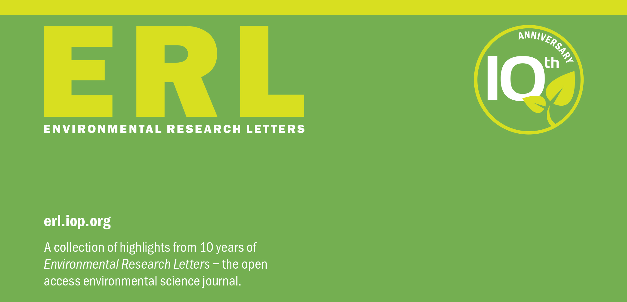 Environmental Research Letters Journal