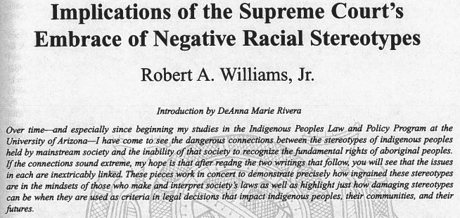 Implications of the Supreme Court's Embrace of Negative Stereotypes