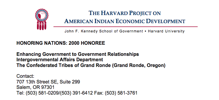 Enhancing Government-to-Government Relationships (Grand Ronde)