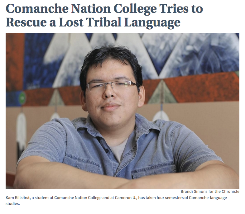 Comanche Nation College Tries to Rescue a Lost Tribal Language