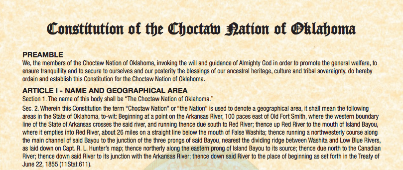 Choctaw Nation of Oklahoma: Judiciary Functions/Dispute Resolution Excerpt
