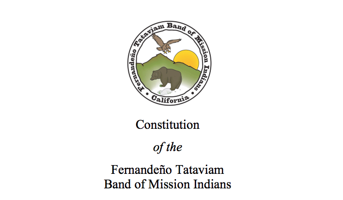 Fernandeño Tataviam Band of Mission Indians: Citizenship Excerpt