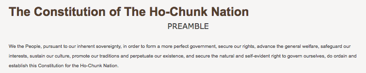 Ho-Chunk Nation: Governmental Structure Excerpt