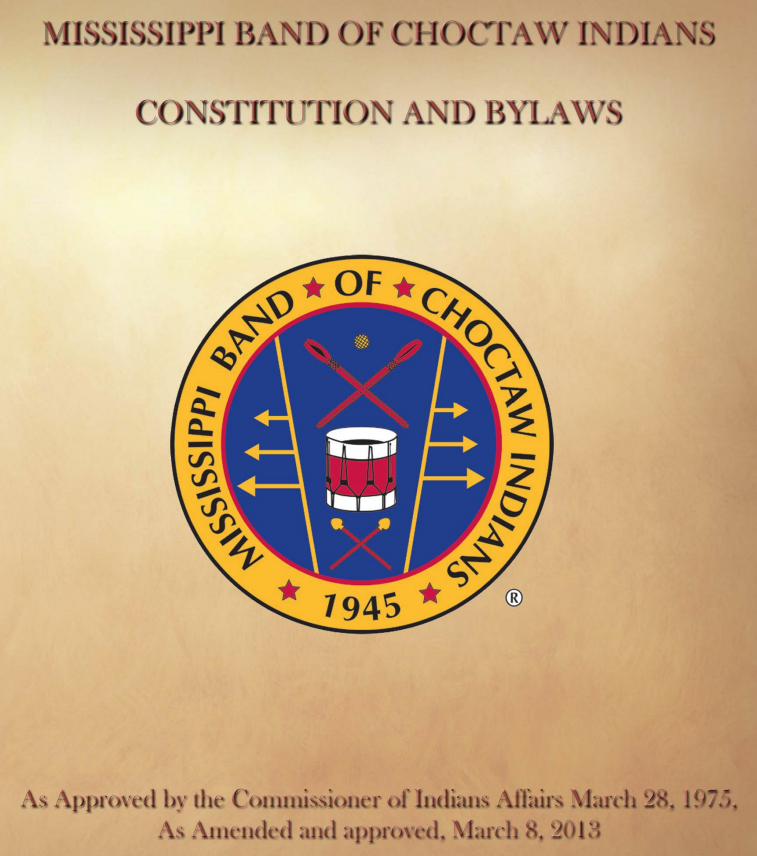 Mississippi Band of Choctaw Indians: Amendments Excerpt
