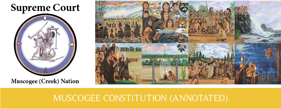 Muscogee (Creek) Nation: Legislative Functions Excerpt