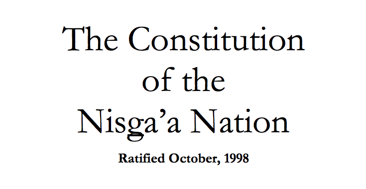 Nisga'a Nation: Judiciary Functions/Dispute Resolution Excerpt