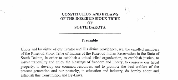 Rosebud Sioux Tribe: Elections Excerpt