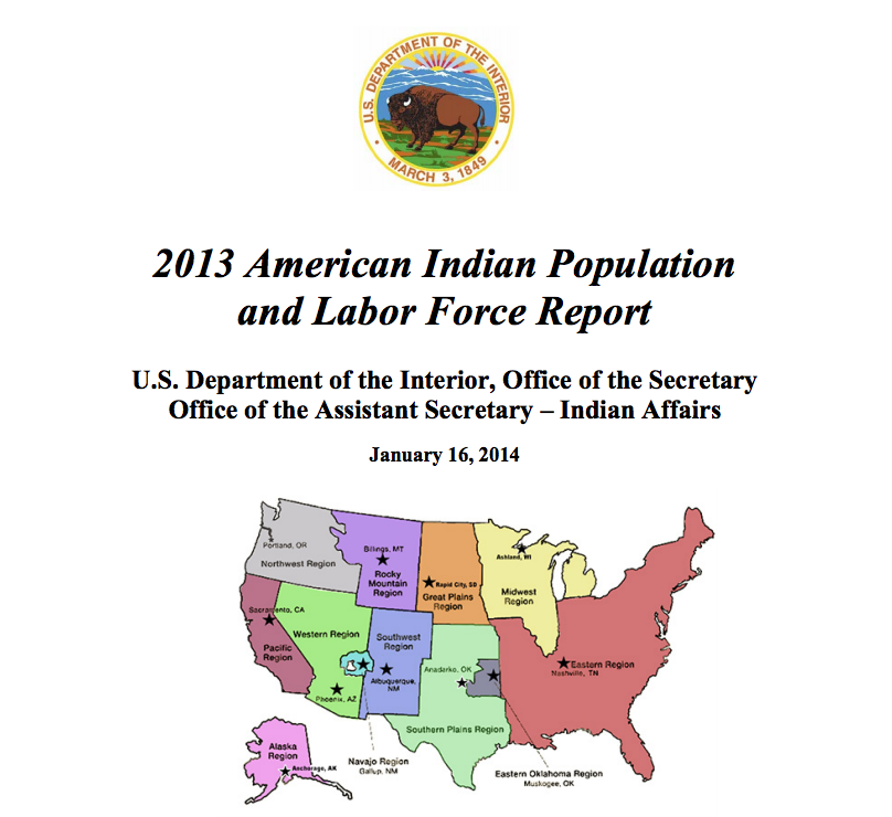 2013 American Indian Population and Labor Force Report
