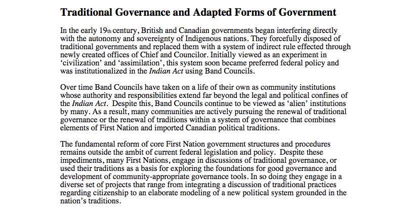 Traditional Governance and Adapted Forms of Government