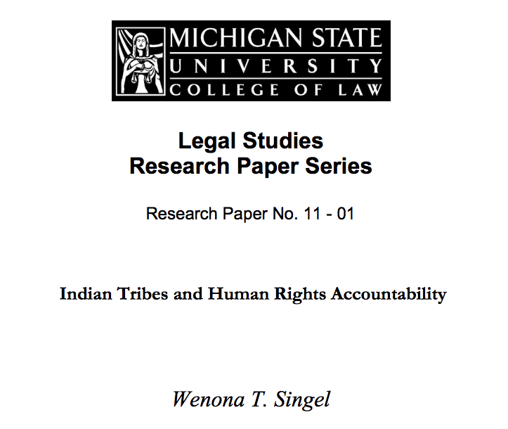 Indian Tribes and Human Rights Accountability