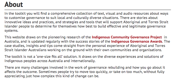 Indigenous Governance Toolkit