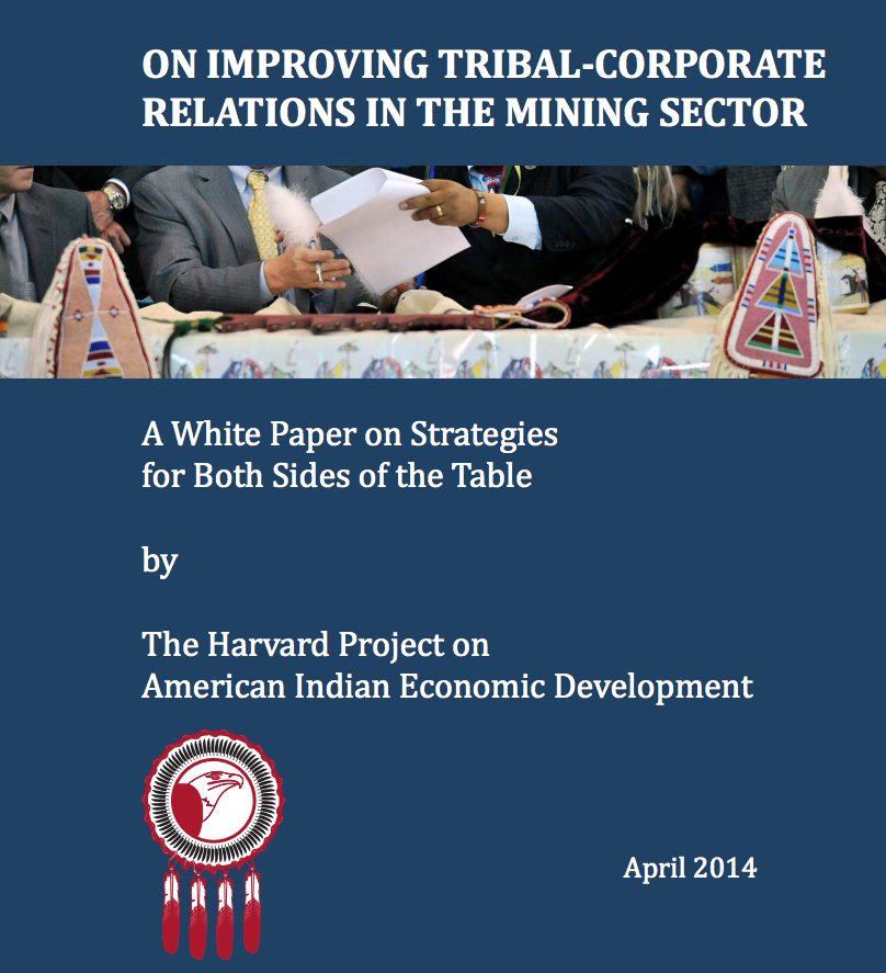 On Improving Tribal-Corporate Relations In The Mining Sector: A White Paper on Strategies for Both Sides of the Table
