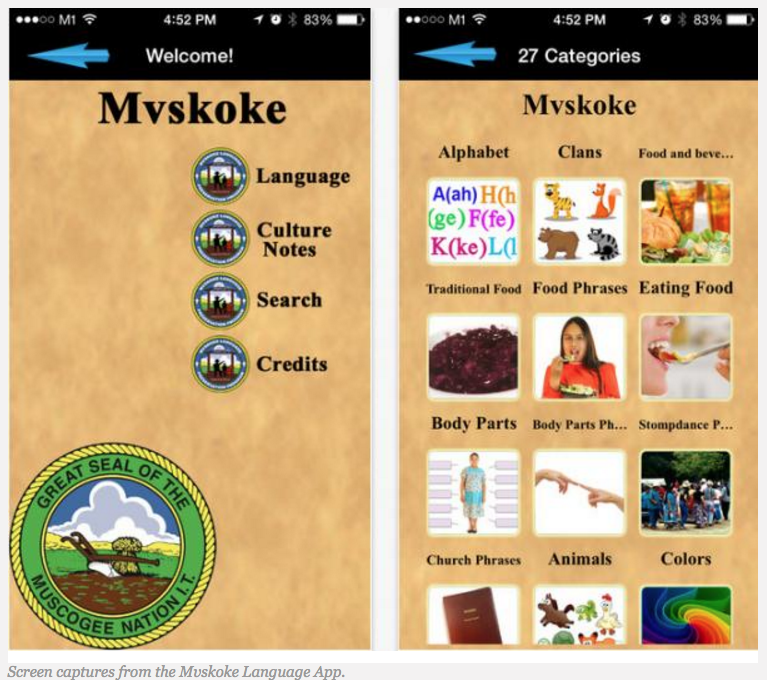 Muscogee (Creek) Nation Launches App to Help Preserve Language