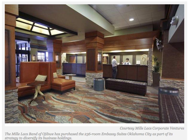 Mille Lacs Corporate Ventures Buys Oklahoma City Embassy Suites Hotel