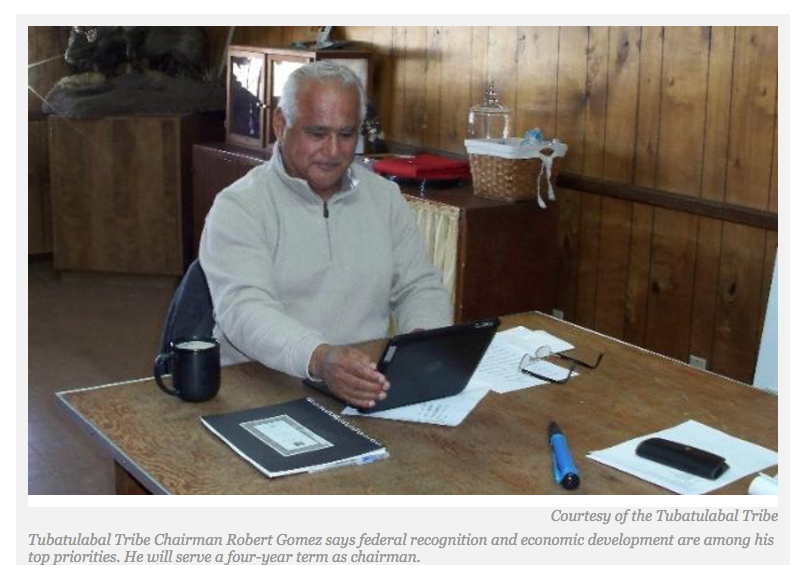 New Leadership for Tubatulabal Tribe; Recognition, Economic Development Among Top Priorities