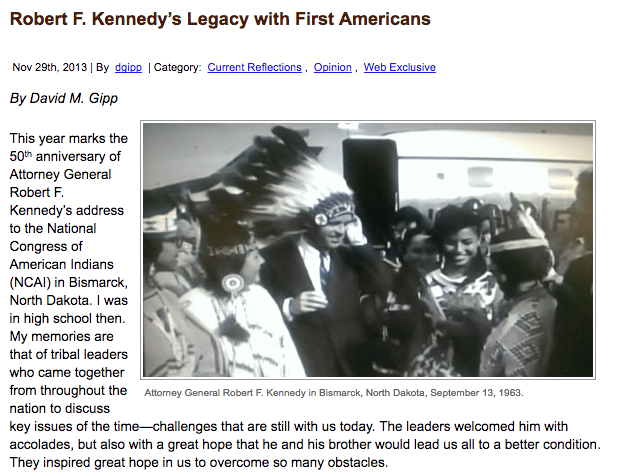 Robert F. Kennedy's Legacy with First Americans
