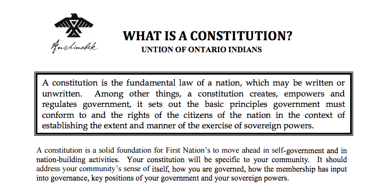 First Nation Constitutions