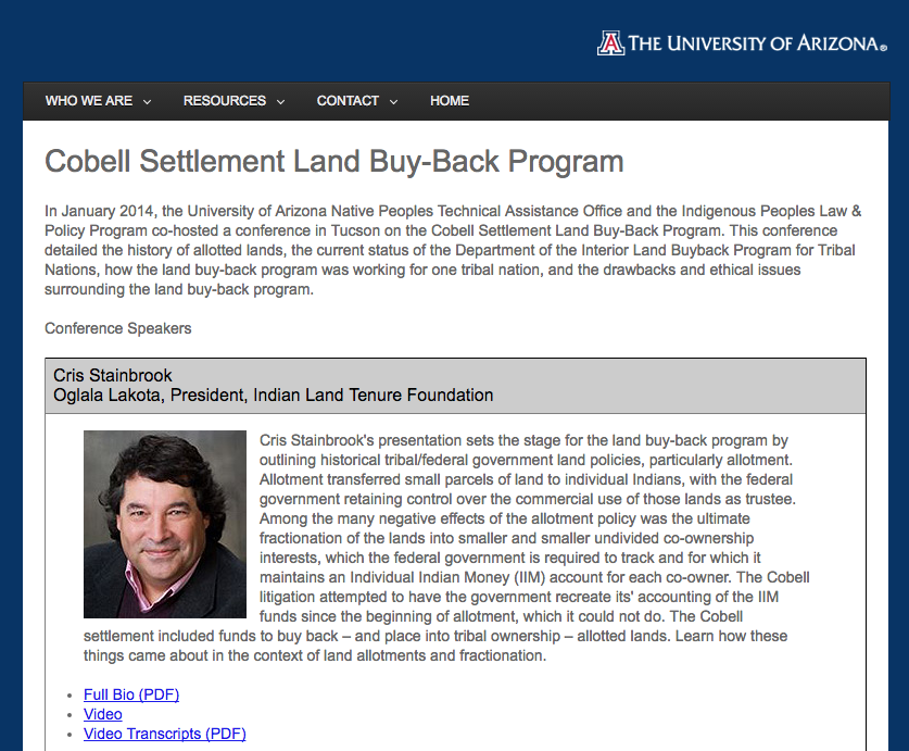 Cobell Settlement Land Buy-Back Program