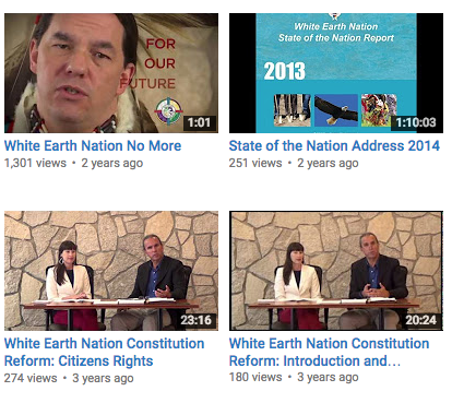 Videos: White Earth Nation Constitutional Reform