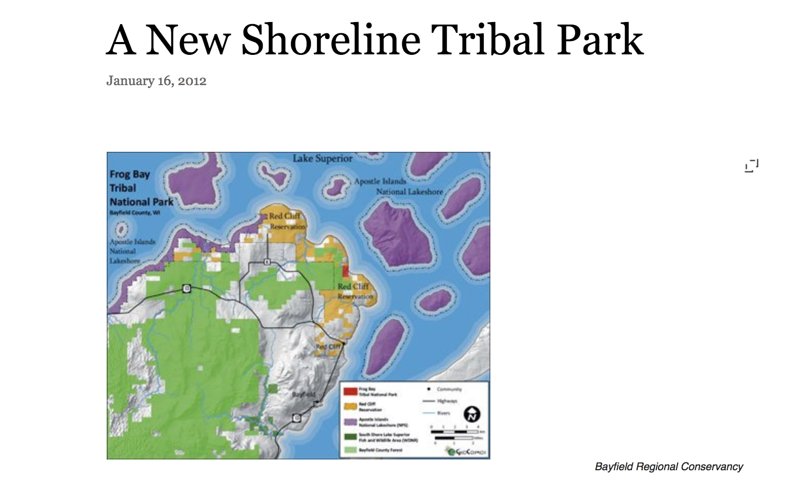 A New Shoreline Tribal Park