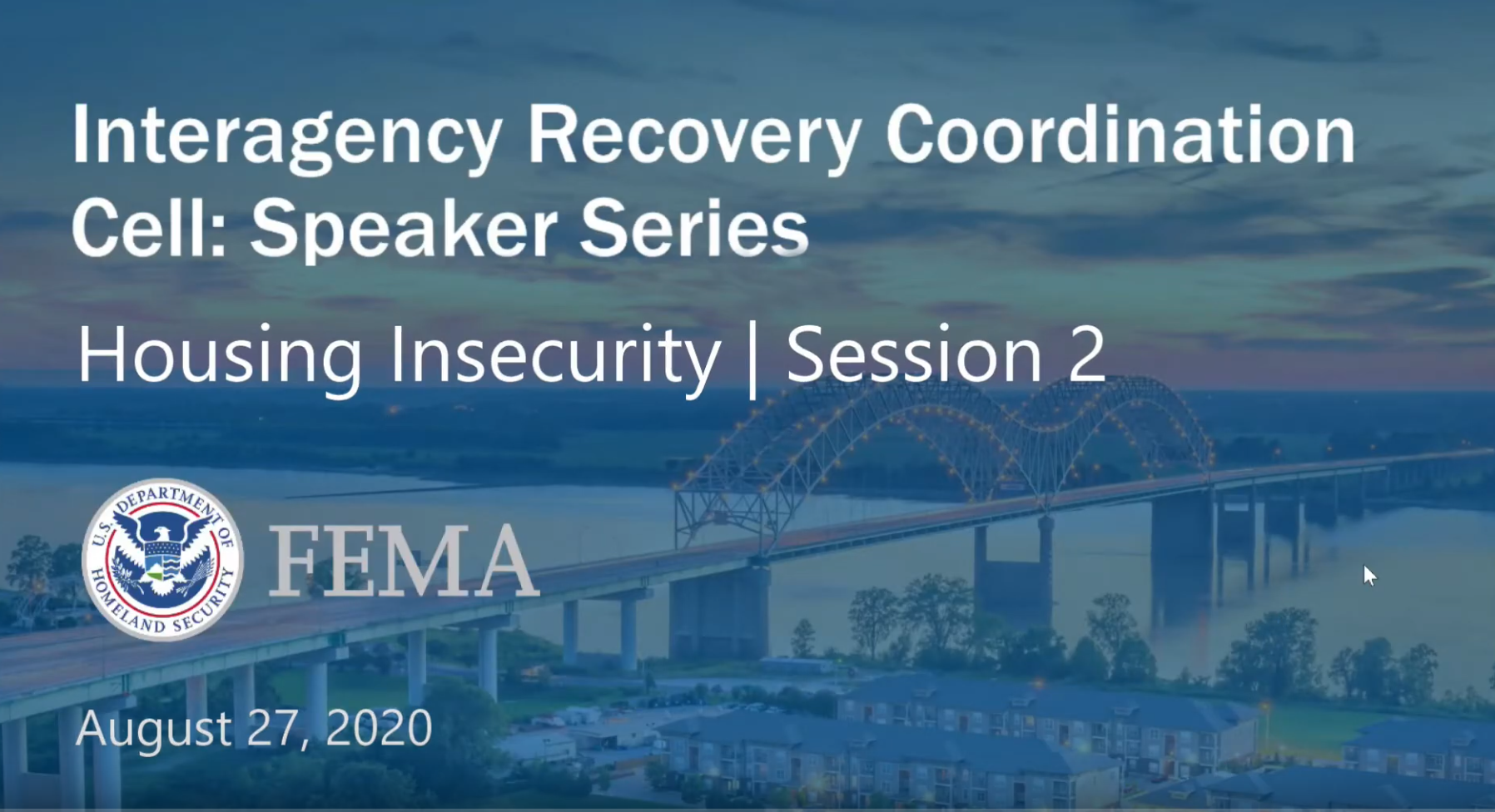 Interagency Recovery Coordination Speaker Series: Housing Inequity