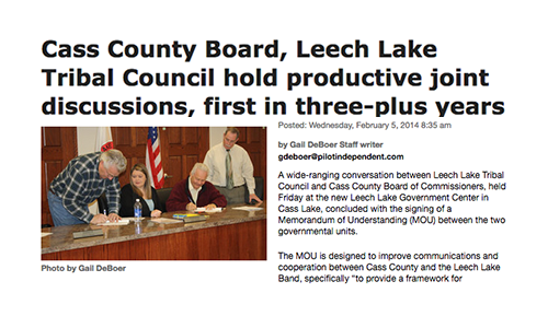 Cass County Board, Leech Lake Tribal Council hold productive joint discussions, first in three-plus years