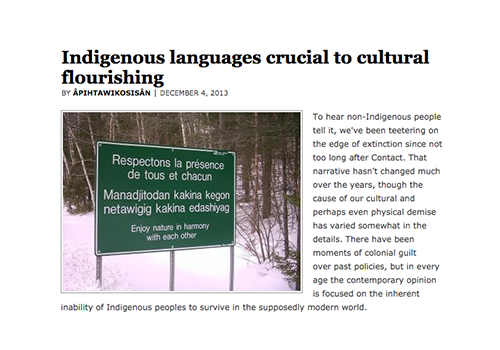 Indigenous languages crucial to cultural flourishing