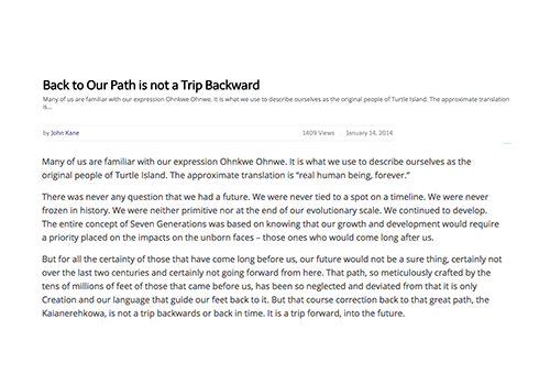 Back to Our Path is not a Trip Backward