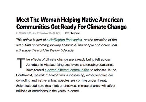 Meet The Woman Helping Native American Communities Get Ready For Climate Change