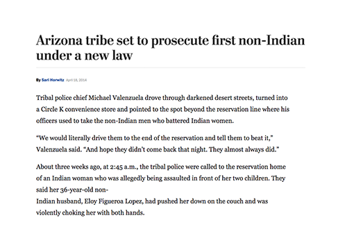 Arizona tribe set to prosecute first non-Indian under a new law