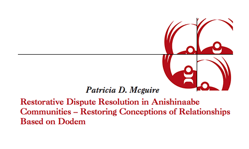 Restorative Dispute Resolution In Anishinaabe Communities - Restoring Conceptions of Relationships Based on Dodem