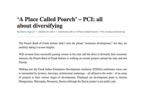 'A Place Called Poarch' – PCI: all about diversifying