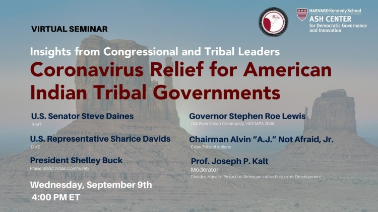 Insights from Congressional and Tribal Leaders: Coronavirus Relief for American Indian Tribal Govt