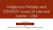 Indigenous Peoples and COVID19: Issues of Law and Justice – USA