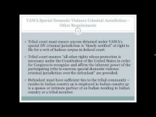 Implementing VAWA's Expanded Jurisdiction in Our Tribal Courts