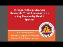 Stronger Ethics, Stronger Research: Tribal Governance as a Key Community Health Speaker