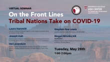 On the Front Lines: Tribal Nations Take on COVID-19