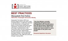 Best Practices Case Study (Meaningful Information Sharing): Miawpukek First Nation