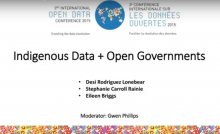 Indigenous Data + Open Governments 2015 Panel Presentation