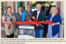 Cherokee Nation of Oklahoma, Kawi Cafe Ribbon Cutting Ceremony May 2014