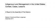 Indigenous Land Management in the United States: Context, Cases, Lessons