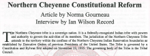 Northern Cheyenne Constitutional Reform