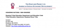Rosebud Sioux Tribal Education Department and Code