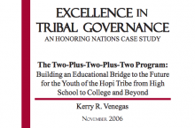 The Two-Plus-Two-Plus-Two Program: Building an Educational Bridge to the Future for the Youth of the Hopi Tribe from High School to College and Beyond