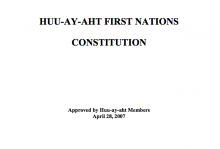 Huu-Ay-Aht First Nations Constitution