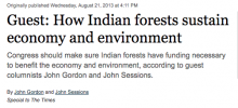 Opinion: How Indian forests sustain economy and environment