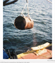 Red Cliff Chippewa Band Re-Dredges 55-Gallon Drums of Live World War 2 Ammo From Lake Superior