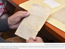 Keeping Language Alive: Cherokee Letters Being Translated for Yale