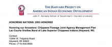 The Chippewa Flowage Joint Agency Management Plan