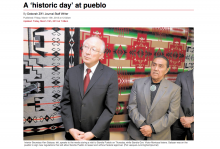 A 'historic day' at pueblo